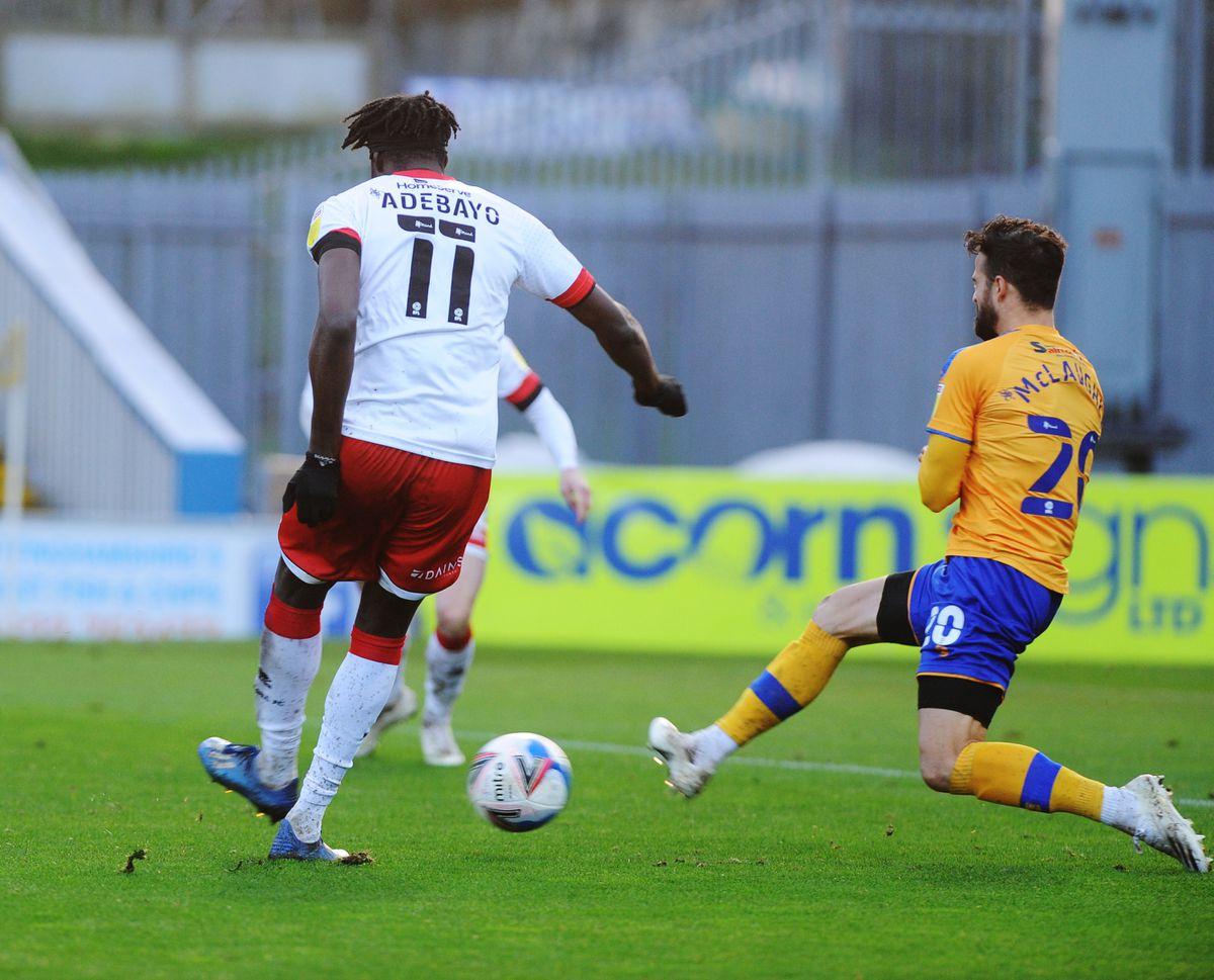 Elijah Adebayo scores
