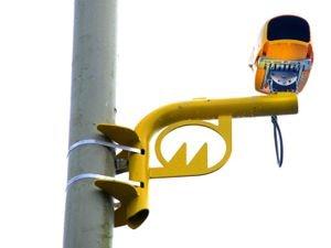 An average speed camera on Birmingham New Road.