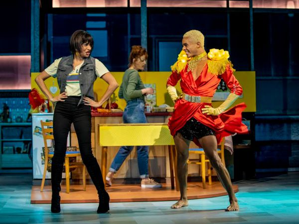 Shobna Gulati (Ray) and Layton Williams (Jamie New) in Everybody's Talking About Jamie tour. Photo: Matt Crockett