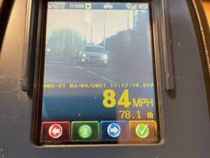Officers caught one driver speeding at 84mph. Photo:@RoadPolicing