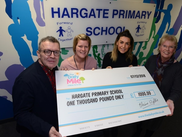 West Bromwich school handed £1k cheque for daily mile runs