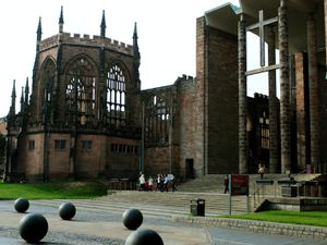 A general view of the Coventry Cathedral ruins (Rui Vieira/PA)