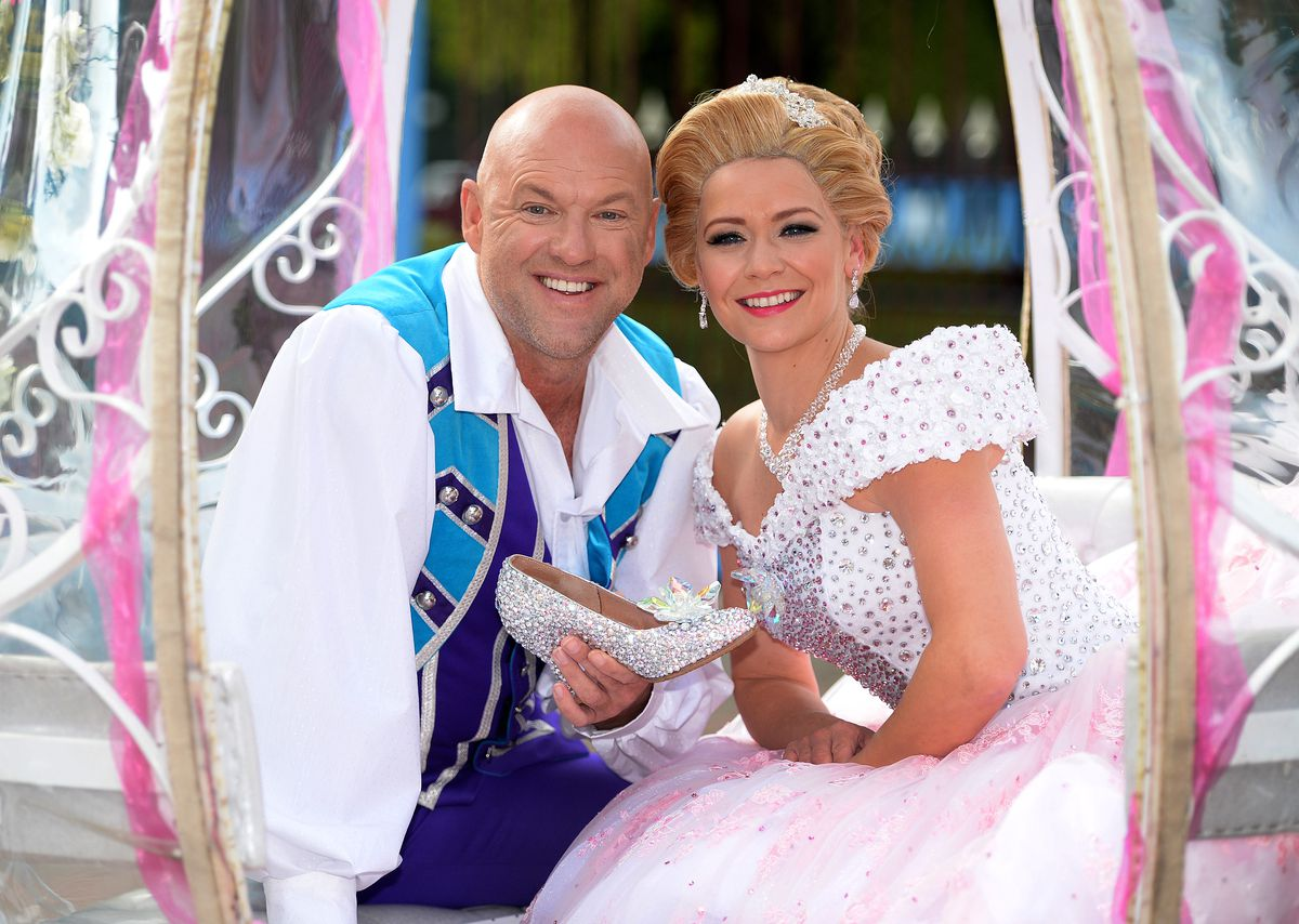 The launch of pantomime Cinderella at Birmingham Hippodrome in 2017 with Matt Slack and Suzanne Shaw
