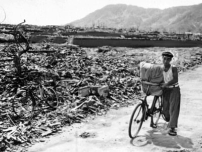 Why was Nagasaki chosen as target of second atomic bombing?