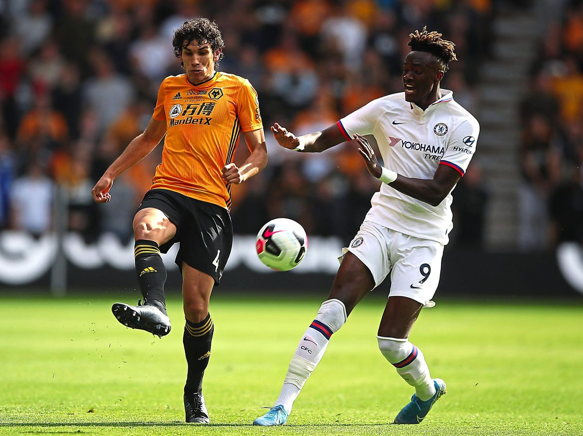 Jesus Vallejo endured an uncomfortable afternoon as Wolves' new-look back three fell apart