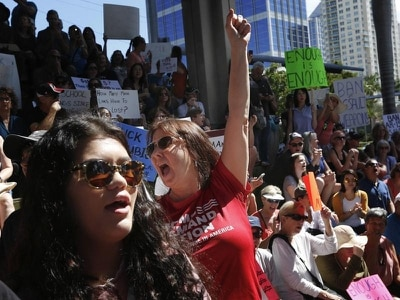 Thousands take to streets in guns protest after Florida school shooting