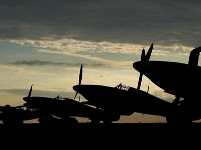 In Pictures: Battle of Britain atmosphere recreated at Duxford Air Show