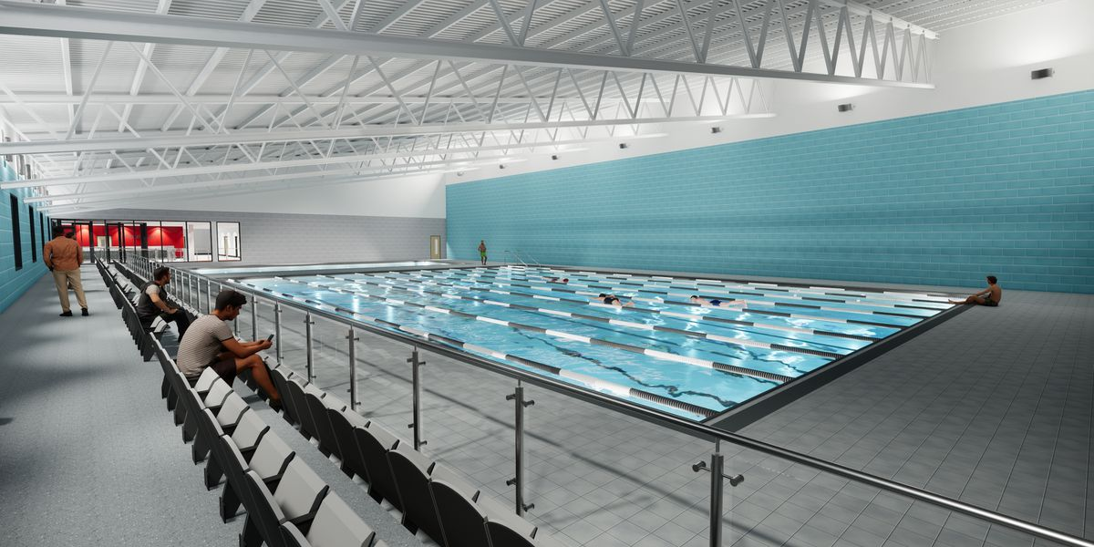 The centre will include a 25 metre swimming pool