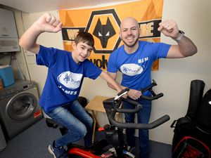 James, 12, and his stepfather Ben Hanbury, from Coseley, took on a charity challenge
