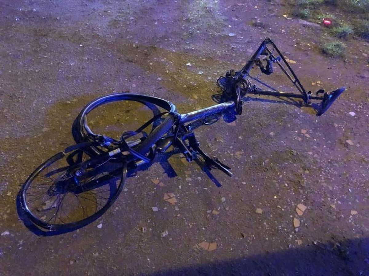One of the mangled bikes