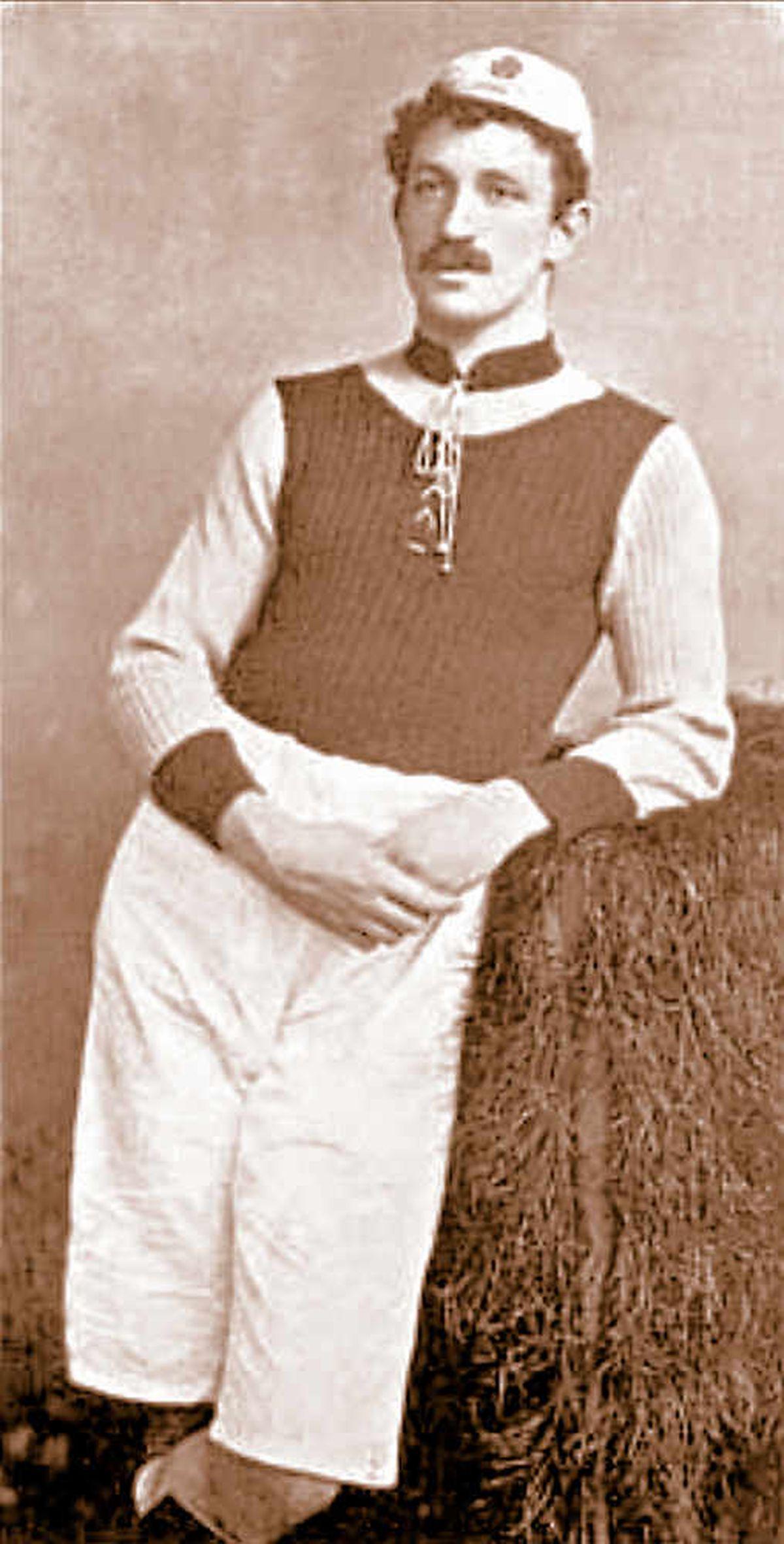 Aston Villa player Charlie Athersmith