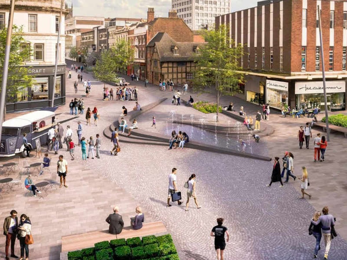 How the Victoria Street area would look under plans. Photo: Wolverhampton Council