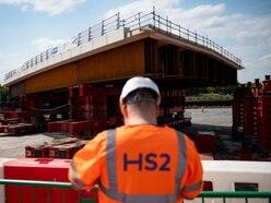 2,750-ton road bridge inching into place for HS2 works