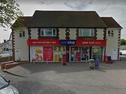 Masked hammer robbers raid Oldbury One Stop shop