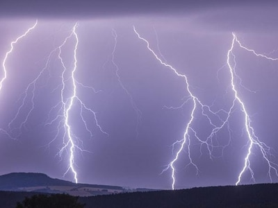 In video: Man survives being hit by lightning
