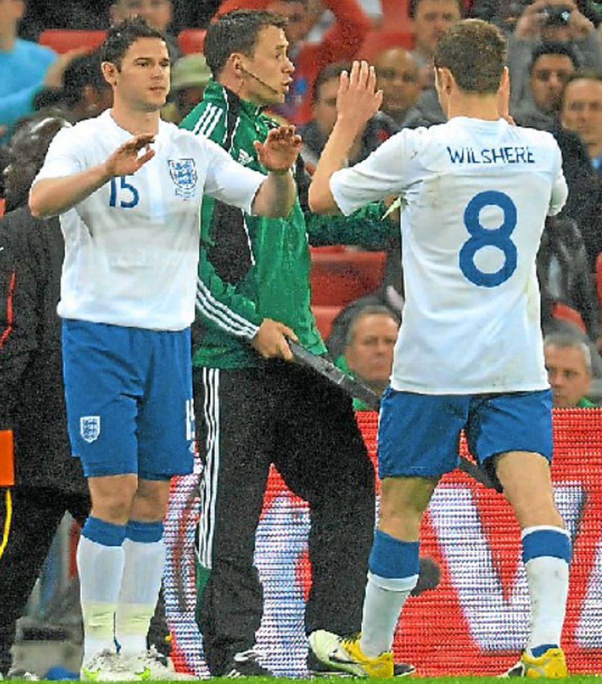 Matt Jarvis comes on for England