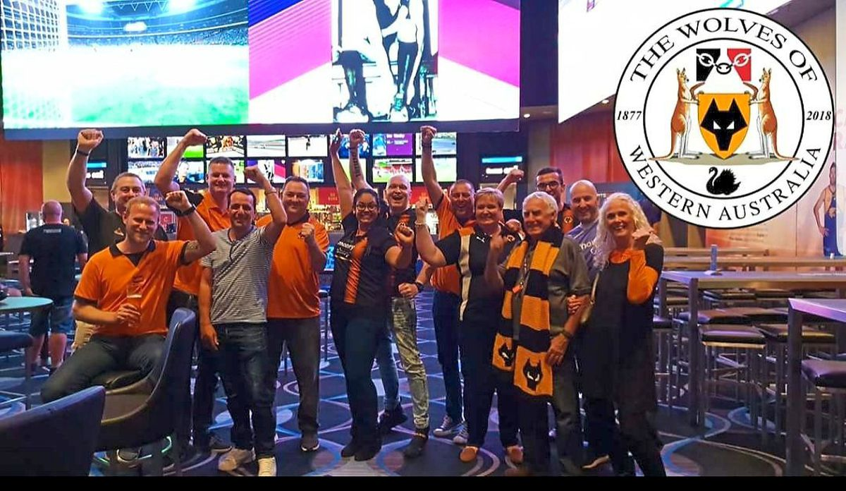 Triumph and anticipation from the Western Australia Wolves supporter's group