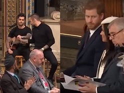 Prince Harry's hilarious reaction to Liam Payne's Commonwealth performance goes viral - with video