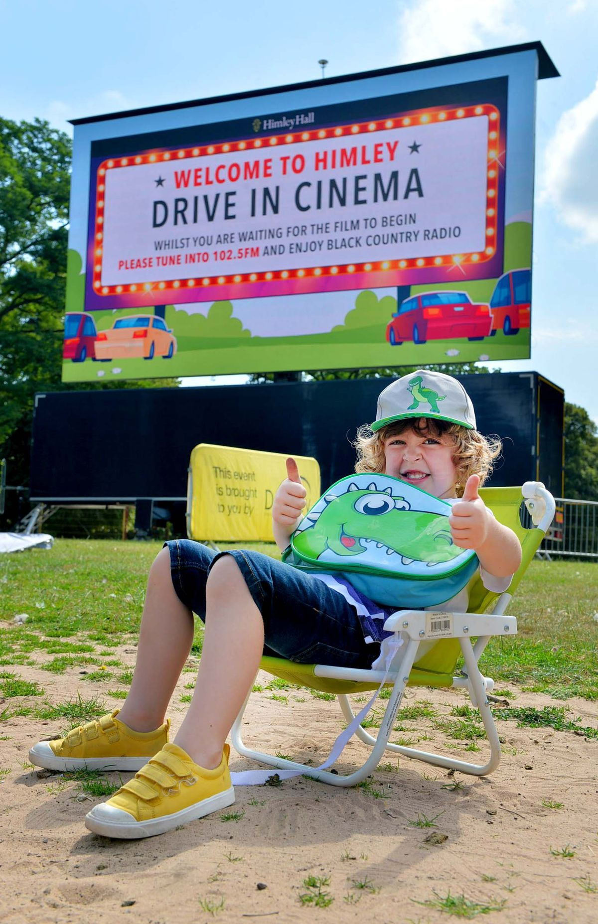 Henry Joyce (5) from Kingswinford gets comfortable in front of the big screen
