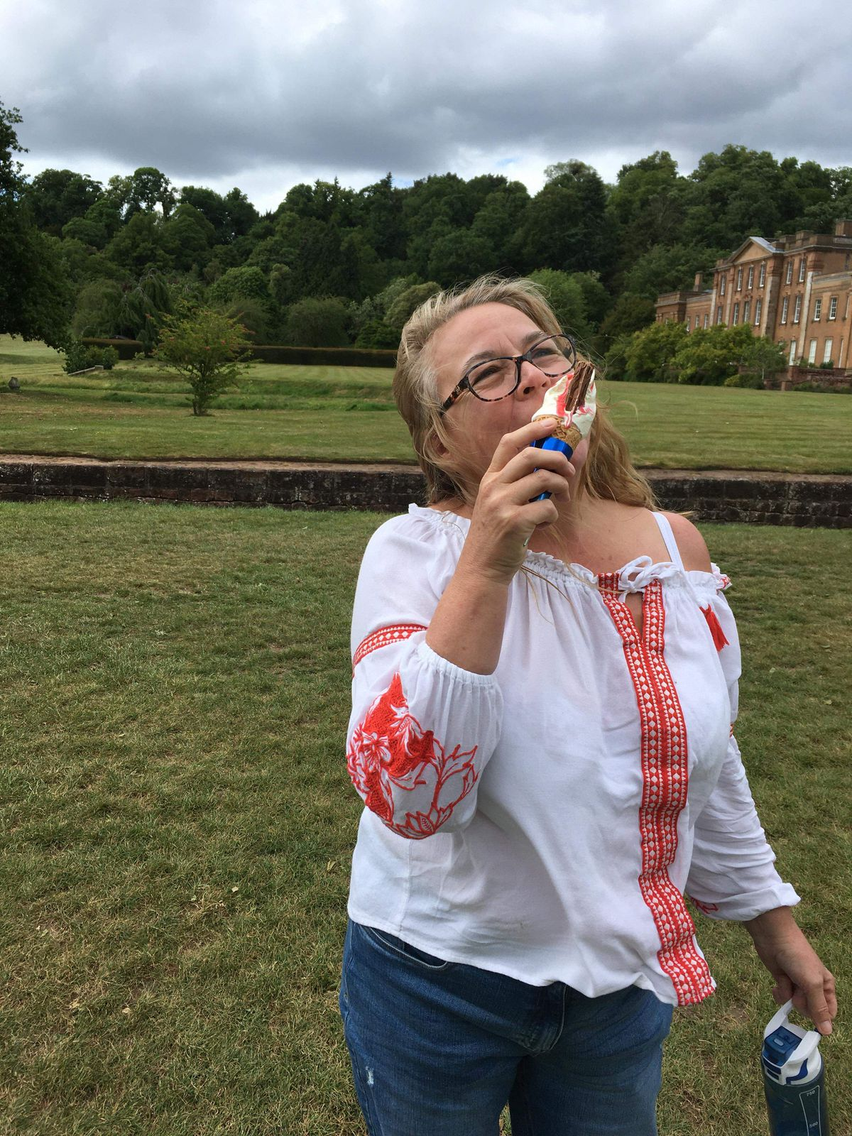 Ann Critcher was delighted to see the ice cream van back at Himley Hall