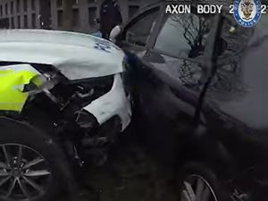 A screenshot from West Midlands Police video footage