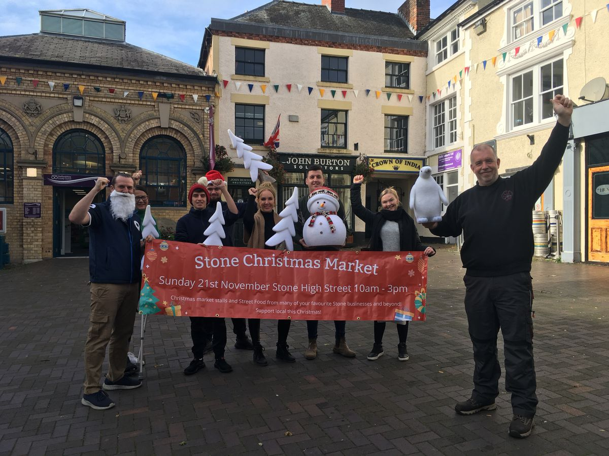Stone Traders celebrate the return of the Christmas light switch on event