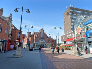 Walsall's Park Street was quiet today