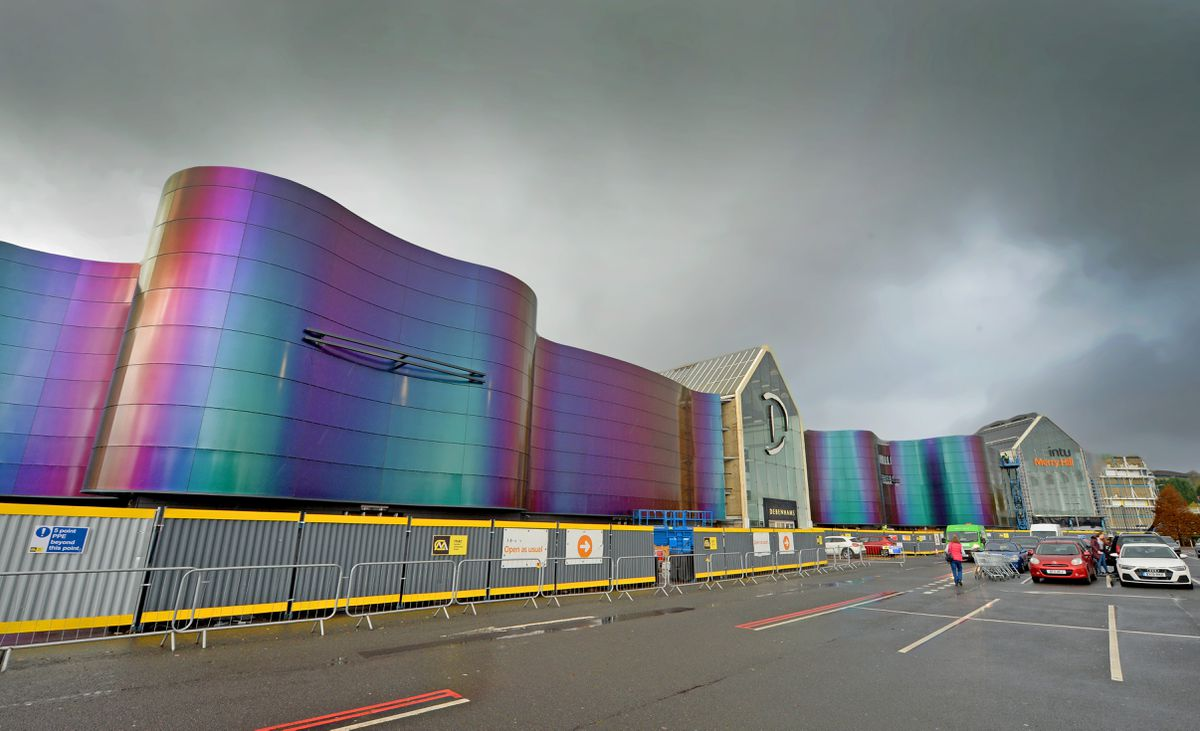 The shopping centre now features new exterior panelling