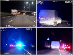 WATCH: Driver leads police on dangerous 100mph chase on M6