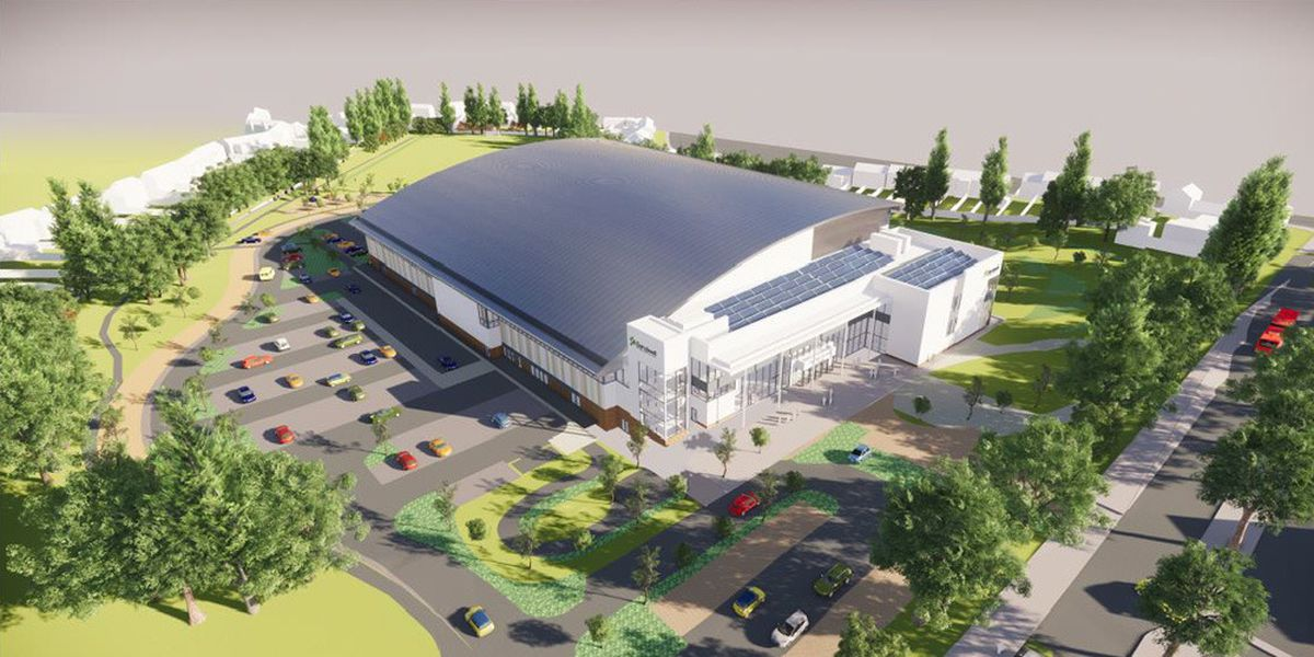 An artist's impression of the Commonwealth Aquatic centre