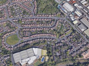 The violence happened on Wallows Road, the main road running from left to right, pictured. Photo: Google