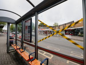 Bus Shelters were damaged across Sedgley on Friday night. In Picture: Bus shelter on Dudley Street.