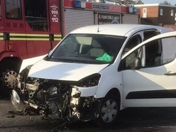 Two taken to hospital after crash in Cradley Heath