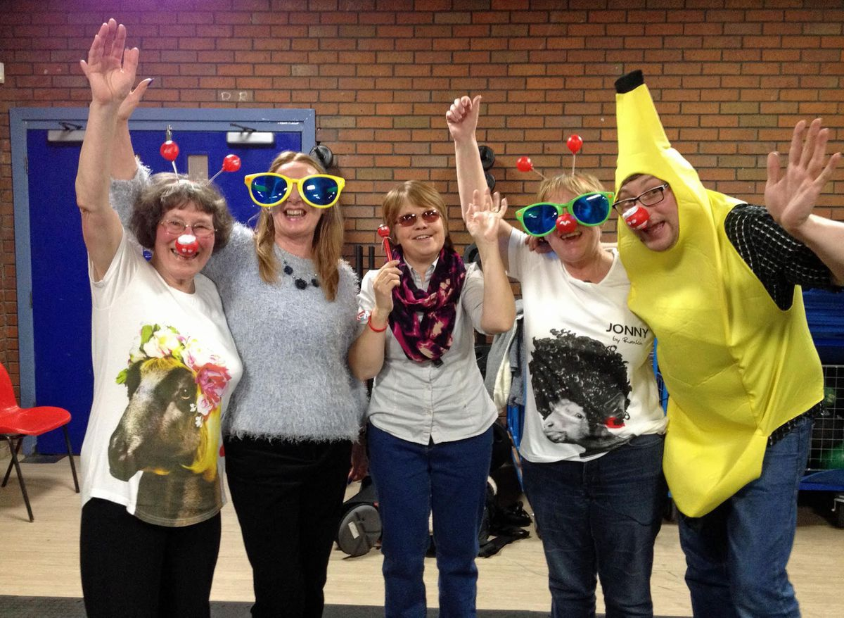 The class helps Comic Relief
