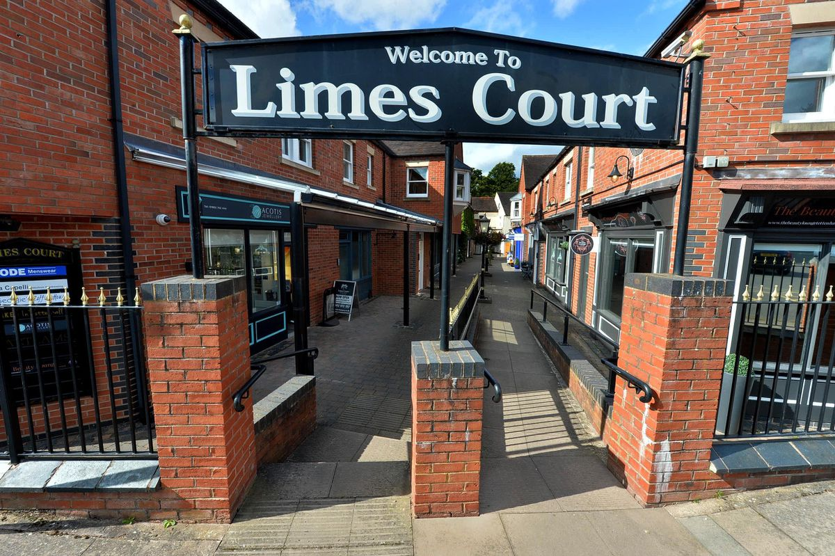 Limes Court contains a range of shops and cafes, with cobbled streets and Victorian architecture