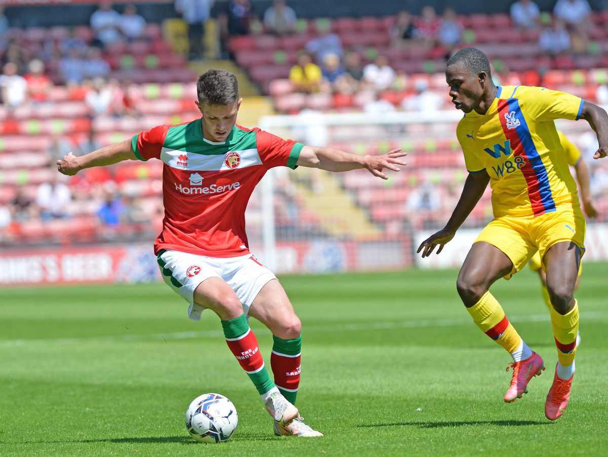 SPORT COPYRIGHT TIM STURGESS EXPRESS AND STAR...... 17/07/2021.....   Walsall v Crystal Palace friendly. Pictured, Rory Holden..