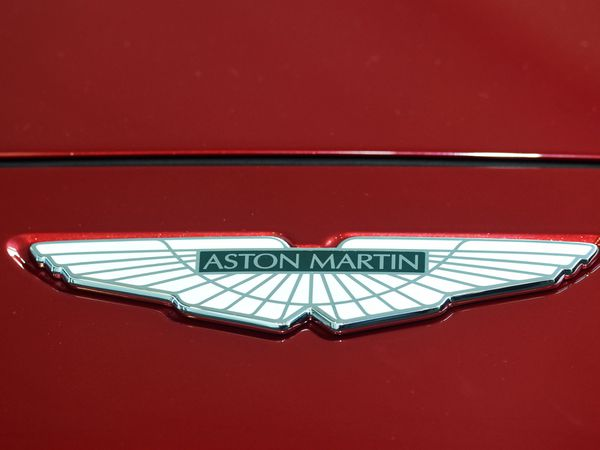 The Aston Martin badge