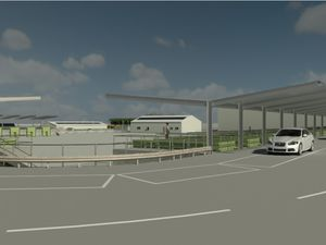 An artists' impression of the new Household Waste and Recycling Centre (HWRC) on Middlemore Lane, Aldridge. Photo: Walsall Council