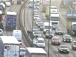 Nine miles of queues as M6 and A449 crashes cause long delays