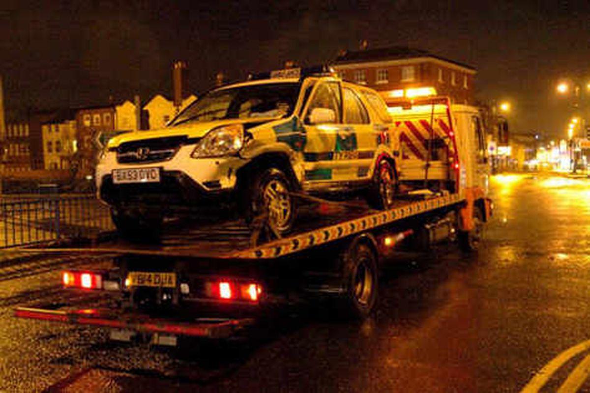 Ambulance crashes on 999 call