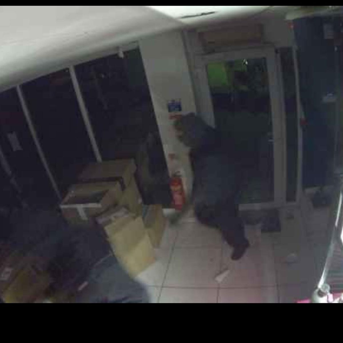 CCTV footage of the thieves in Run and Ride, in the Green
