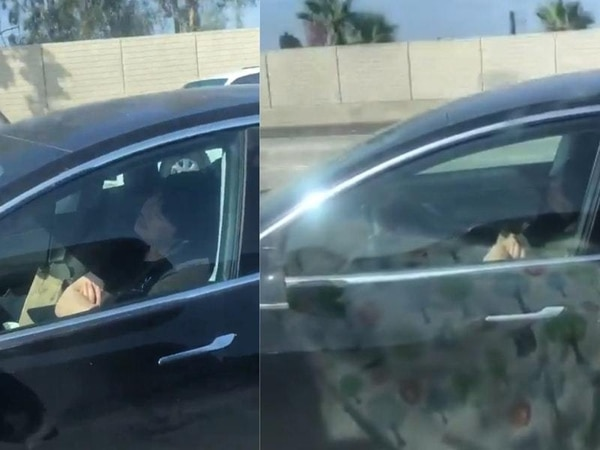 Footage of Tesla driver 'asleep' in seat sparks alarm