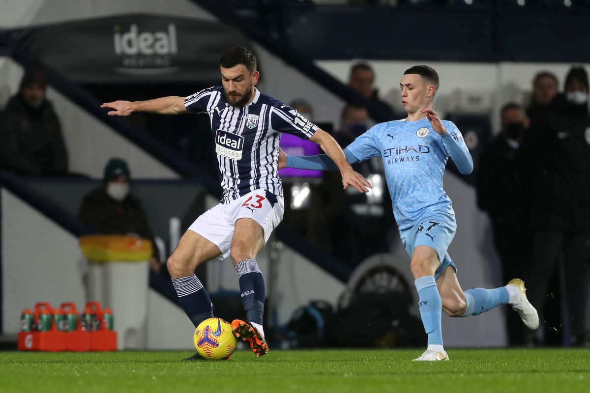 Robert Snodgrass of West Bromwich Albion and Phil Foden of Manchester City. (AMA)