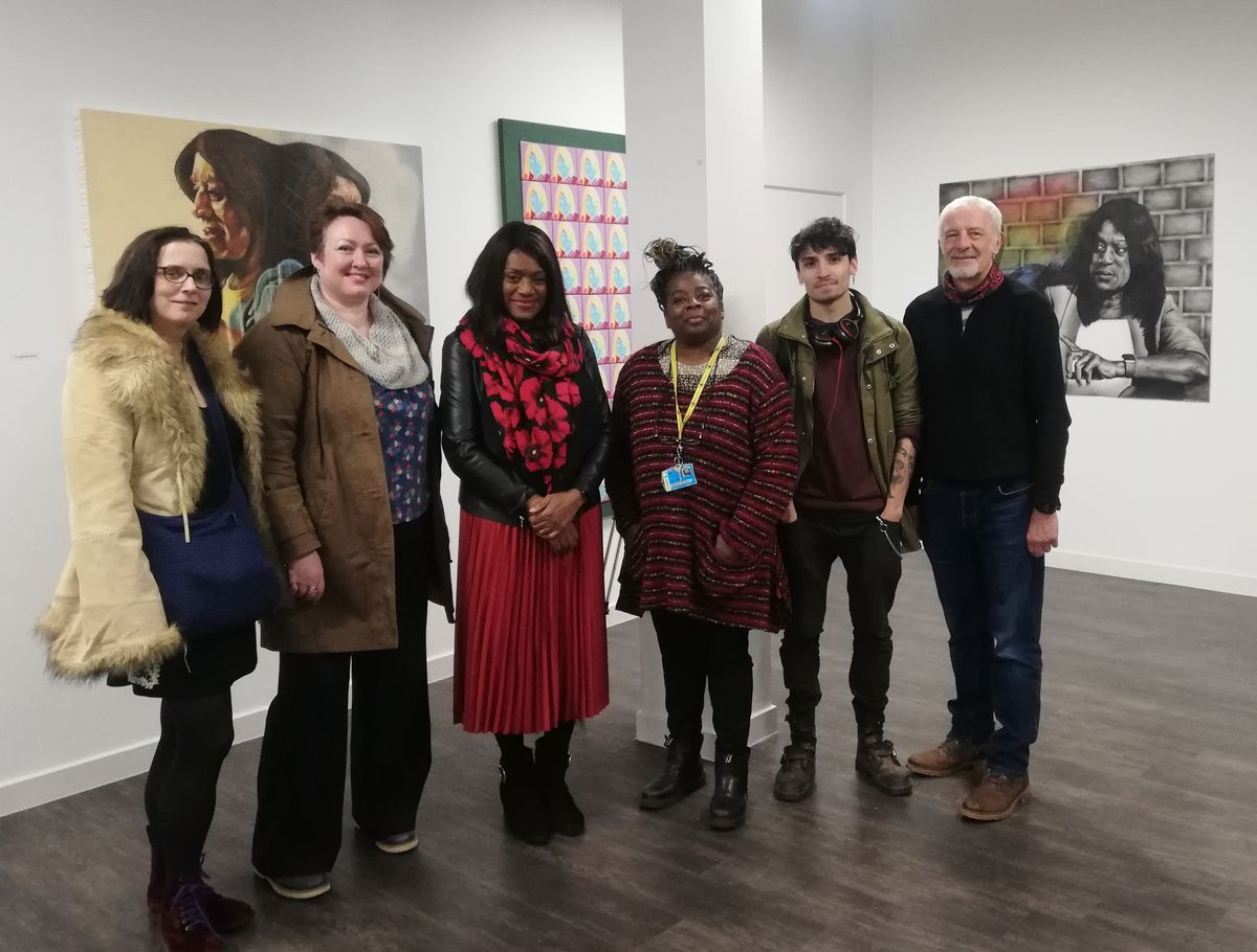 Eleanor Smith with the artists