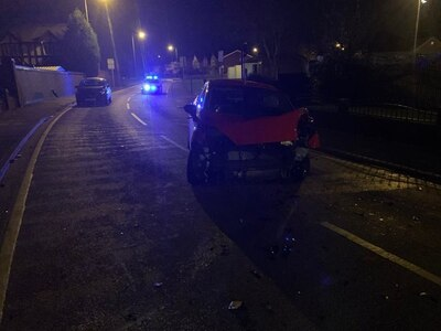 Drink-driver arrested in stolen car after crashing into lamppost in Walsall