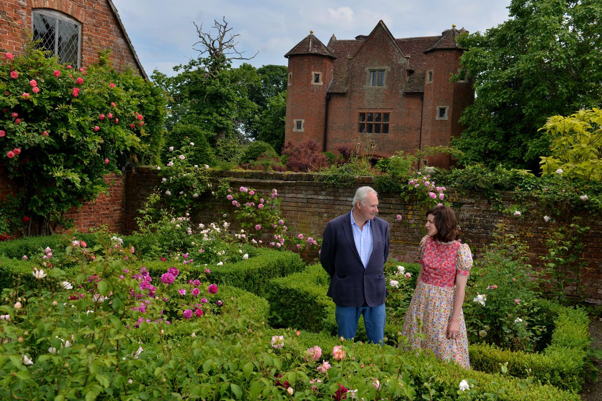 LAST COPYRIGHT SHROPSHIRE STAR STEVE LEATH 22/06/2021..Pic at Upton Cressett Hall, near Bridgnorth, where tours will soon be starting up again. Its the home of William Cash and he is on some pics along with Bill Cash and Lady Laura Cathcart..