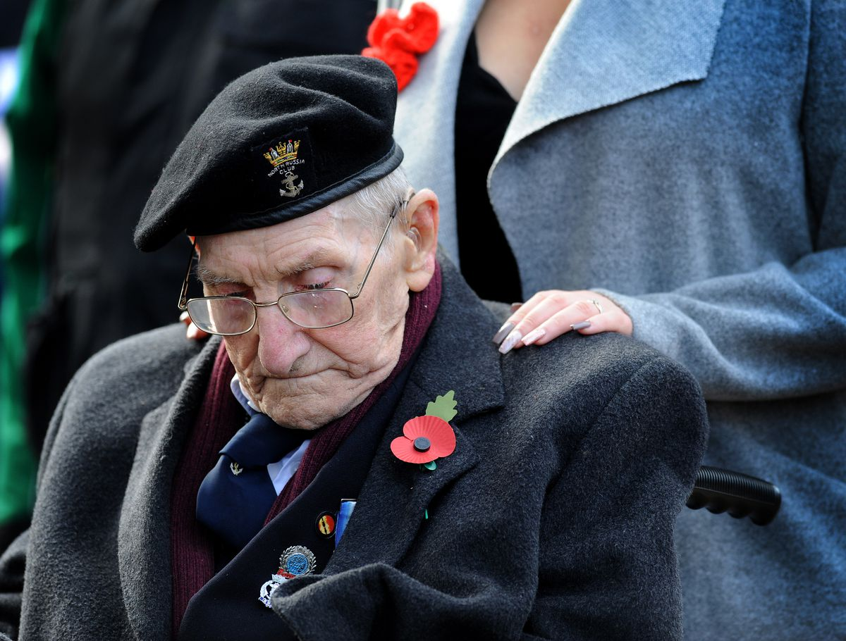 95-year-old William Harry Busby attended Wolverhampton's Remembrance Sunday service