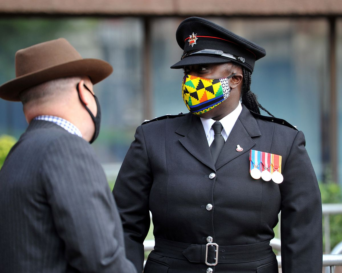 A ceremony was held outside Wolverhampton's Civic Centre