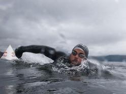Swimmer set to break record for longest staged sea swim