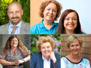 Clockwise from top left; Alan Pearson, Kim Hatton and Claire McKen, Julie Grainger, Siobhan Heafield and Tonia Enderbury.